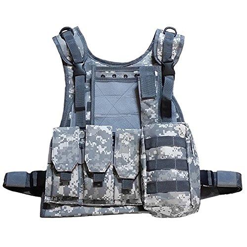 (ガン フリーク) GUN FREAK タクティカルベスト アーマーベスト Molle システム 対応 ミリタリー サバゲー ( ACU 迷彩 )