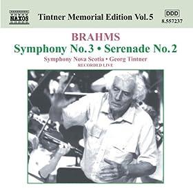 Brahms: Symphony No 3 / Serenade No 2 (Tintner Edition 5)