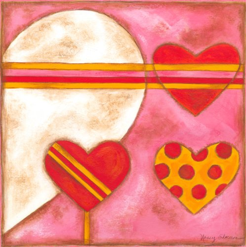 Green Frog Art Canvas Gallery Wrapped Art, Pop Hearts I