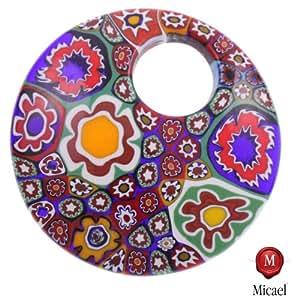 """: Mille Fiori Pendant """"Grand Chiva"""" genuine Murano Glass-mille fiori"""