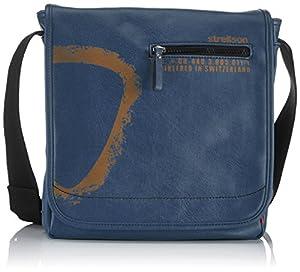 Strellson Paddington Messenger MV 4010001166 Herren Umhängetaschen 27x31x9 cm (B x H x T), Blau (blue 400)