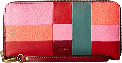 Emma Large Zip Wallet - Bright Patchwork Wallet, One Size