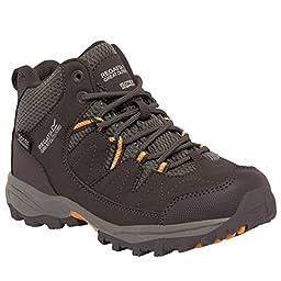 Regatta Great Outdoors Childrens/Kids Holcombe Mid Cut Waterproof Walking Boots (4 US) (Briar/Gold)
