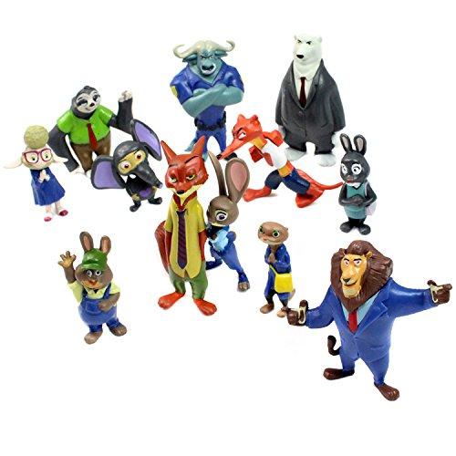 Zootropolis figure Zootopia Personaggi 12 pezzi giocattoli