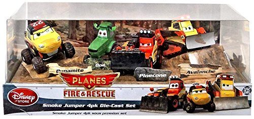 Disney PLANES: Fire & Rescue Exclusive 1:55 Deluxe Die Cast 4-Pack Smoke Jumper [Dynamite, Doe, Pinecone & Avalanche] by Disney