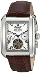 """Ingersoll Men's IN8209WH """"Georgia II"""" Stainless Steel Automatic Watch with Brown Leather Band"""