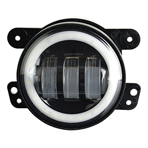 Aosi 4 Inch 30w Cree Led 6000k White Halo Ring Drl Off
