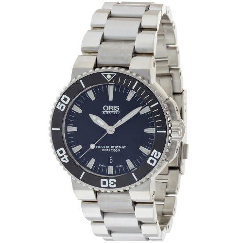 [オリス]ORIS 腕時計 アクイスデイト ブラック 733 7653 4154M メンズ 【正規輸入品】