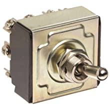 "Morris Products 70306 Toggle Switches, 4 Pole, On/Off/On, 1.44"" Width, 1.31"" Length, 0.80"" Height"