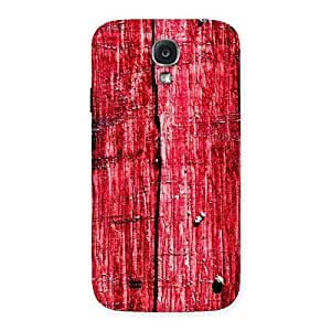 Impressive Red Fenced Print Back Case Cover for Samsung Galaxy S4