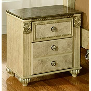 Ashley Furniture Signature Design - Saveaha Nightstand - 2 Drawers - Old World Style - Light Beige
