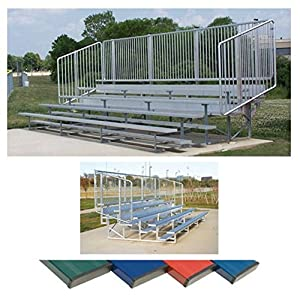 5 Row 15' Vertical Picket Bleacher 15'/Royal from Ssg / Bsn