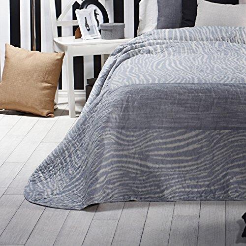 Sancarlos - Colcha bouti original brisa gris gris - relleno ligero - reversible - varias medidas disponibles