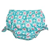iPlay® Newborn Infant Toddler Girls' Flower Diaper Cover - Aqua 18-24M
