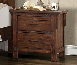 rustic burnished oak bedroom furniture