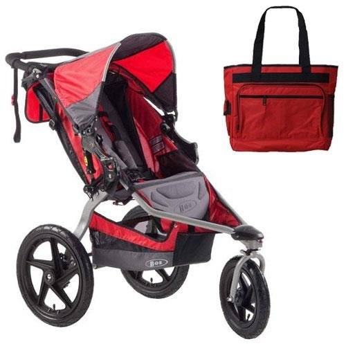 BOB-ST1031-Stroller-Strides-Fitness-Stroller-with-Diaper-Bag-Red