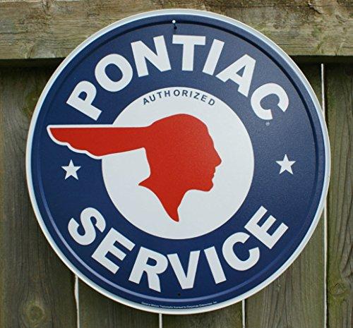 pontiac-authorized-service-car-dealer-logo-round-retro-vintage-tin-sign-12x12-12x12