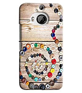 Blue Throat Snake Made Of Buttons Printed Designer Back Cover For HTC One M9 Plus