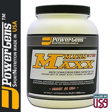 MassMaxx 8700+ - Masse / Gewichtsaufbau Präparat fur Sportler - orig. Powergens USA