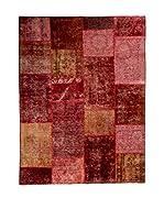 CarpeTrade Alfombra Vintage Persian Collage (Rojo/Multicolor)