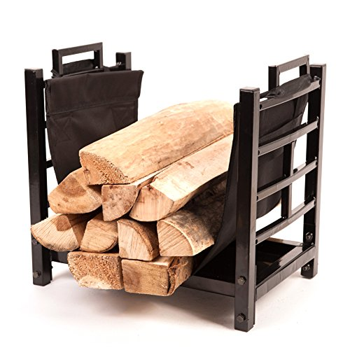 HIO Small Firewood Racks 18 Inch Fireplace Log Holder With Canvas Carrier (Fireplace Rack 18 compare prices)