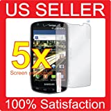 5x Samsung Droid Charge 4G LTE SCH-i510 Mobile Phone Premium Clear LCD Screen Protector Cover Guard Shield Film Kit, No cutting, Perfect fit with Full Protection!