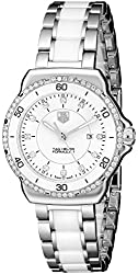 TAG Heuer Women's WAH1313.BA0868 Formula 1 Stainless Steel Bracelet Watch with White Dial and Diamonds