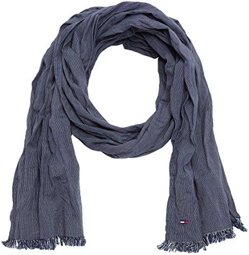 Hilfiger Denim Thdm Cotton Scarf 1, Sciarpa Uomo, Blau (Black Iris 002), Taglia Unica