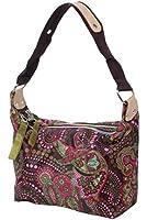 Citya - coole Schultertasche kleine Kosmetiktasche Stofftasche Shopper Handtaschen Paisley Punkte Ethno Muster Taschen Bag 19 x 22 x 10 cm (BxHxT)