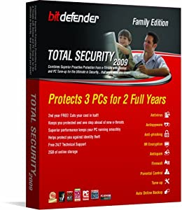 "Bitdefender Total Security 2009 2Yr/3Pc [OLD VERSION] (CD-ROM) By Bitdefender, LLC          1 used and new from $14.00     Customer Rating:       First tagged ""internet security software"" by Mark ""Technology, Music and Movies"""