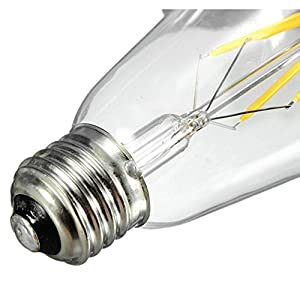 5X E27 Base Filament LED Bulbs Vintage Style LED 4W Edison LED Bulbs Unique Designer Style Light Bulb - Warm White 2200K by WanLianInc