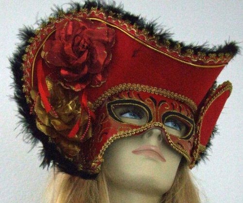 Womens Mardi Gras Pirate Half Mask