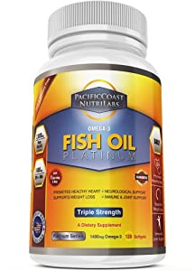 PacificCoast NutriLabs Fish Oil Omega 3, 120 Count