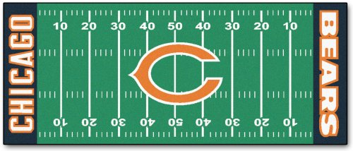 Chicago Bears Football Field Runner Area Rug/Carpet