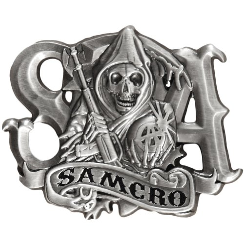 Sons Of Anarchy Reaper & Banner Belt Buckle