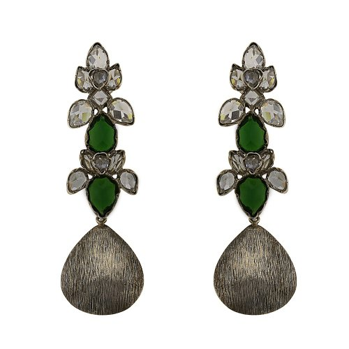 Cool Earrings Multi Gemstone Handcrafted Artisan Jewelry Silver