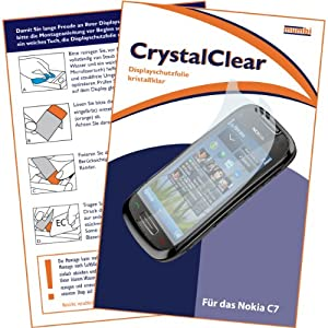 "mumbi Displayschutzfolie Nokia C7 C7-00 C 7 Displayschutz ""CrystalClear""unsichtbar"
