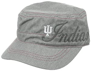 NCAA Indiana Hoosiers Women's Military Hat, Grey, One Size