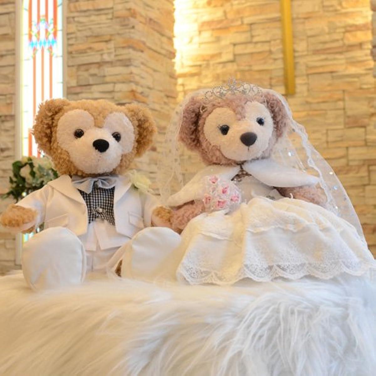 [해외] 더피 셸리 메이 코스튬 웨딩 드레스&연미복 세트 결혼식의 웰컴 베어(베이스 업)에★【오리지널 핸드 메이드 코스튬】-
