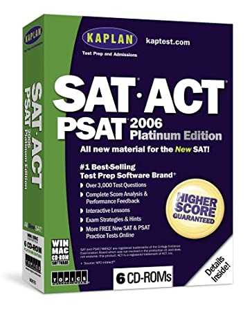 Kaplan SAT/ACT/PSAT 2006 Platinum (PC & Mac)