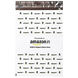 Amazon.in Branded Economy Polybag with Document Pouch (Size -11 Inches X 8 Inches, Count - 100 Polybags)