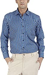 Silkina Men's Regular Fit Shirt (EXCHKSN3F3, 38)