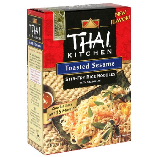 Pasta Noodle Dishes Thai Kitchen Stir Fry Rice Noodles With Seasoning Toasted Sesame 5 6