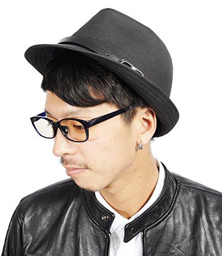 (スペイド) SPADE ハット メンズ 中折れ 帽子 PUレザー チェック 中折れハット メンズハット 【e303】 (アニマル柄)