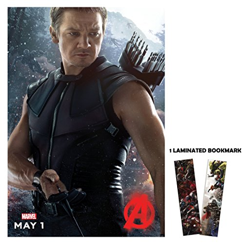 "Avengers: Age of Ultron (2015) - Character Hawkeye - Movie Poster Reprint 13"" x 19"" Borderless + FREE BROOKMARK"