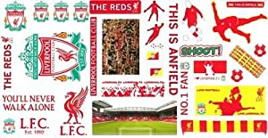 Liverpool Fc 32 Piece Wall Stickers Gift Pack from Liverpool FC