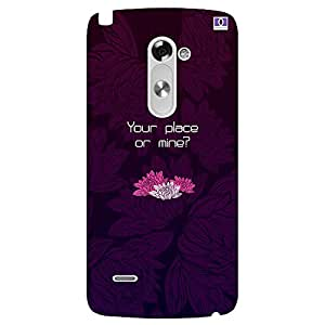 Your Place Or Mine? - Mobile Back Case Cover For LG G3 Stylus