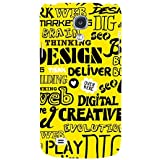 For Samsung Galaxy S4 I9500 :: Samsung I9500 Galaxy S4 :: Samsung I9505 Galaxy S4 :: Samsung Galaxy S4 Value Edition I9515 I9505G Word Pattern ( Word Pattern, Design, Thinking, Good Quotes, Yellow Background ) Printed Designer Back Case Cover By FashionCo