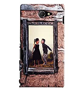 Blue Throat Boy And Girl Enjoying Printed Designer Back Cover/ Case For Sony Xperia M2