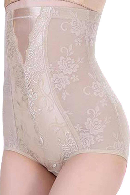Cfanny Damen Blumen Spitze Hohe Taille Figurformend Unterhose